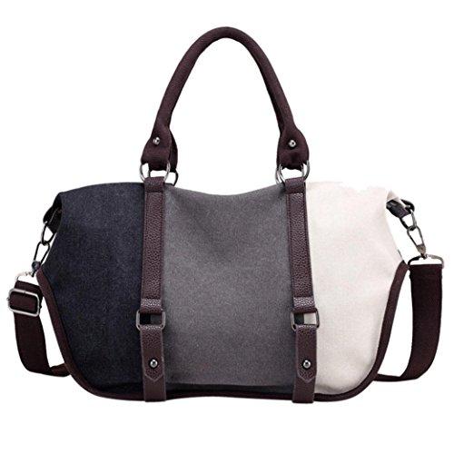 Clearance! Women Shoulder Bag, Neartime Women Fashion Split Joint Crossbody Bag Casual Tote Handbag Versatile Satchels (❤️37cm(L)×18cm(W)×30cm(H), ()