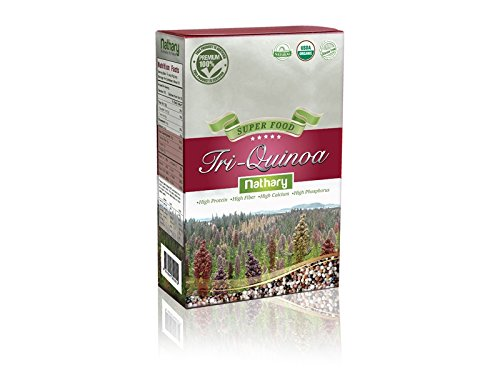 Nathary 100% Natural Quinoa |Gluten Free |USDA Organic |Super Food |Healthy by Nature |Advanced Nutrition | antioxidants | High Protein |High Fiber | Weight Loss | Diet Plan | (Tri Quinoa)