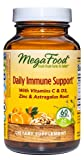 MegaFood, Daily Immune Support, Vitamins C & D3, Plus zinc, Astragalus, Non-GMO, 60 Tablets