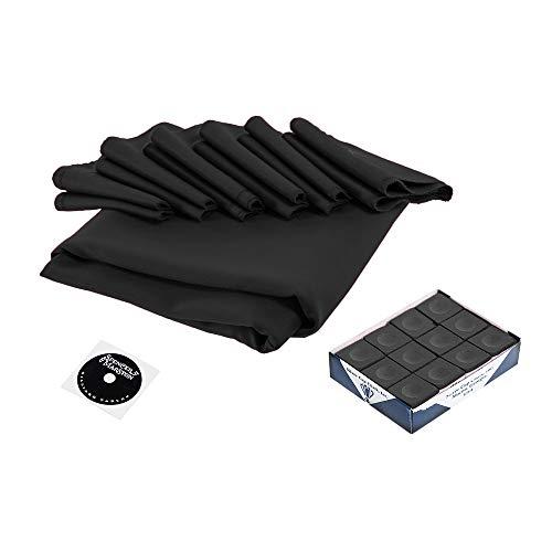 (Spencer Marston Simonis 860 Pool Table Cloth Set 8 ft, Black )