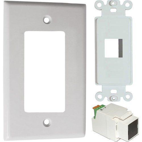 Calrad 92-164-S IR Receiver Insert with Designer Style Wall Plate