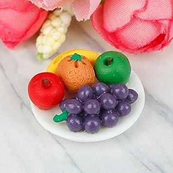 1//6 Scale Dollhouse Miniature Tableware 20 Pieces Fruit Bowl Kitchen Decor