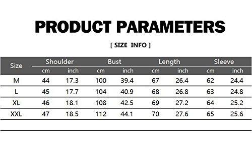 Herren Langarm mit Kapuze 3D Print Casual Baumwolle Pullover Hoodies(S(TAG:L),Weiß)