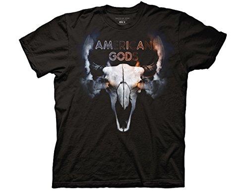 Buffalo Skull T-shirts (Ripple Junction American Gods Buffalo Skull Adult T-Shirt 2XL Black)
