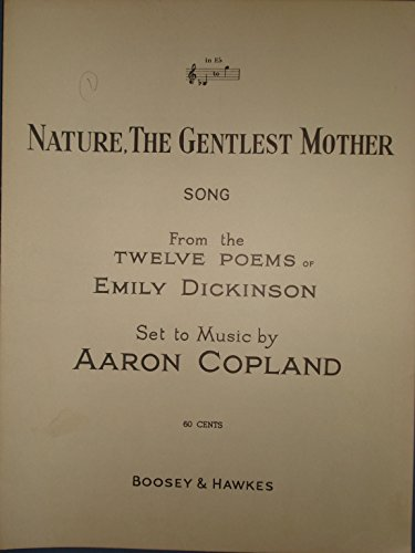 mother nature poem by emily dickinson