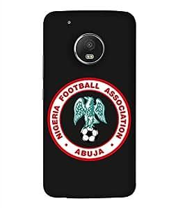 ColorKing Football Nigeria 03 Black shell case cover for Motorola Moto G5 Plus