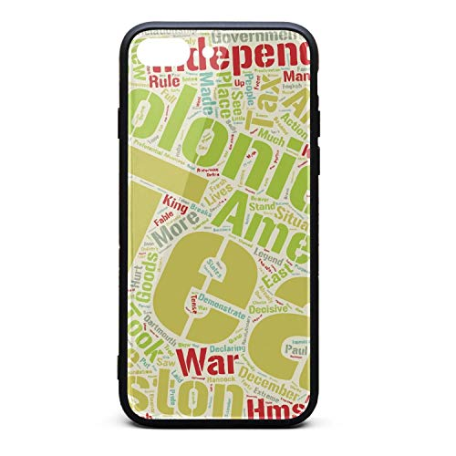 Xanx Smon iPhone 7 Plus Case iPhone 8 Plus Case The Boston Tea Party Time Soft Silicone Bumper 9H Tempered Glass Back Cover Compatible iPhone 8 Plus/7 Plus -