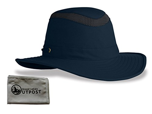 Tilley LTM6 Airflow Sun/Outdoor Hat Bundle with Cloth (7, Navy)