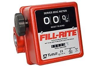 Fill-Rite 807C  3 Wheel Mechanical Meter, 5 to 20 GPM
