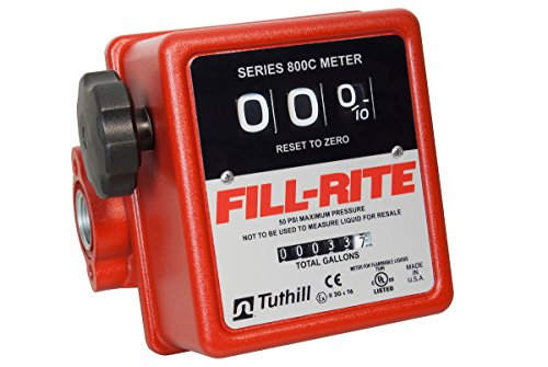 Fill-Rite 807C  3 Wheel Mechanical Meter, 5 to 20 GPM