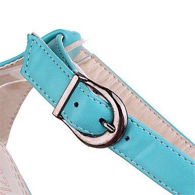 LvYuan Mujer-Tacón Stiletto-Innovador Zapatos del club-Sandalias-Vestido Fiesta y Noche-Semicuero-Negro Azul Amarillo Blanco Blue