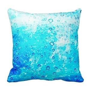 JeremyArtStore Bubble Cotton Linen Pillow Cover 18 x 18 Inch