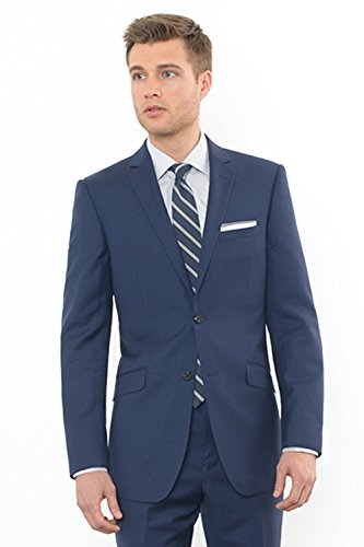 Blue 2 Wool Suit - Combatant Gentlemen Men's Blue Slim Fit Suit 42 Long Blue
