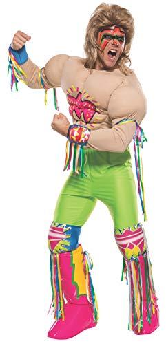 Ultimate Warrior Halloween Costume (Rubie's Costume Co Men's WWE Ultimate Warrior Grand Heritage Costume, Multi,)