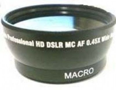Wide Lens for Sony DCR-SR40E, Sony HDRXR100E, Sony DCRTRV19E, Sony HDR-CX100/B by photo High Quality