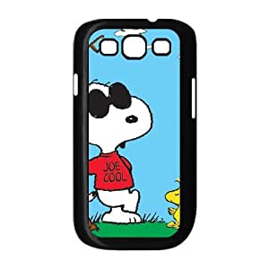 Samsung Galaxy S3 9300 Case Black Charlie Brown And Snoopy Cell Phone Case Cover D4L3RI
