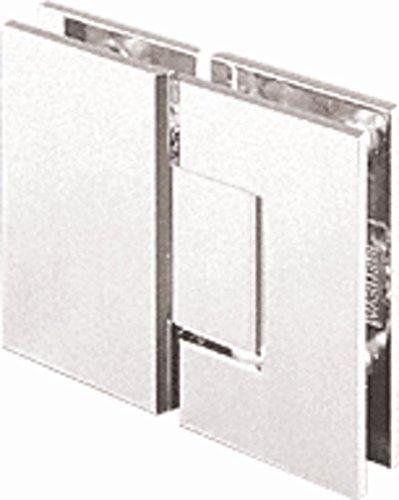 CRL Junior Geneva 180 Series Satin Chrome 180176; Glass-to-Glass Hinge