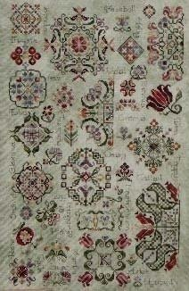 (Spring Quakers cross-stitch pattern - Rosewood Manor - Karen Kluba)