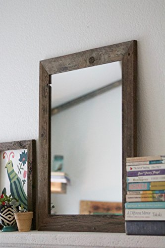 Rustic Wall Mirror - Wall Mirror - 20 x 24 Vanity Mirror - Bathroom Mirror - Rustic Mirror - Reclaimed Wood Mirror - Bathroom Vanity by Hurd & Honey