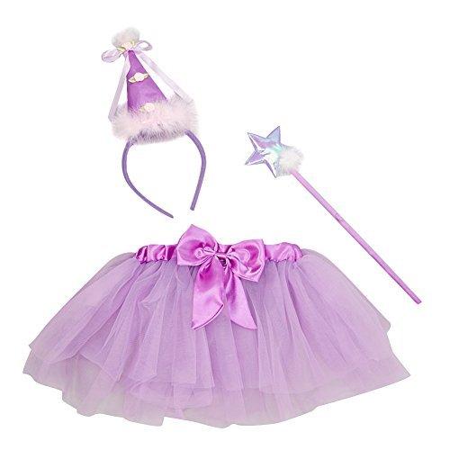 Purple Birthday Princess Wand, Headband & Tutu