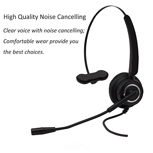 CALLANY Computer USB Headset Over-The-Head Hands-Free Wired Headphone with Noise Cancelling Mic- Business Headset for Call Center (VH510 USB Monaural Headset)