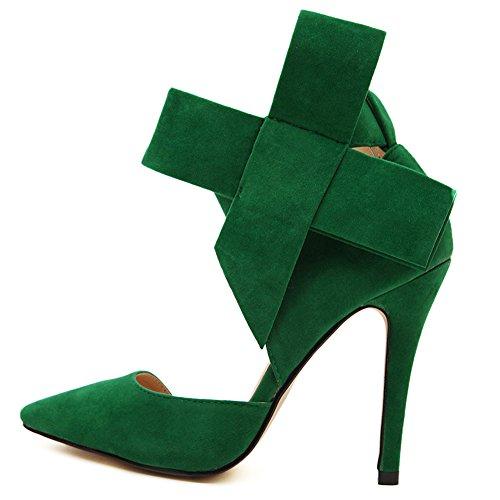 Club Verde Womens Tacchi Punta A Spillo Party Sexy Strap Bowknot Alti Fereshte PqzZZ