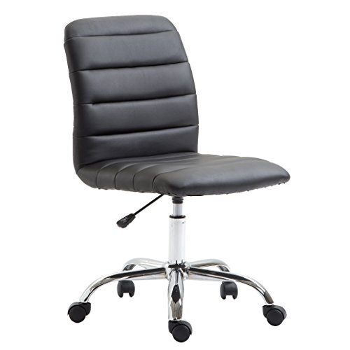 Poly and Bark Polox Task Chair in Vegan Leather, Black by Poly and Bark