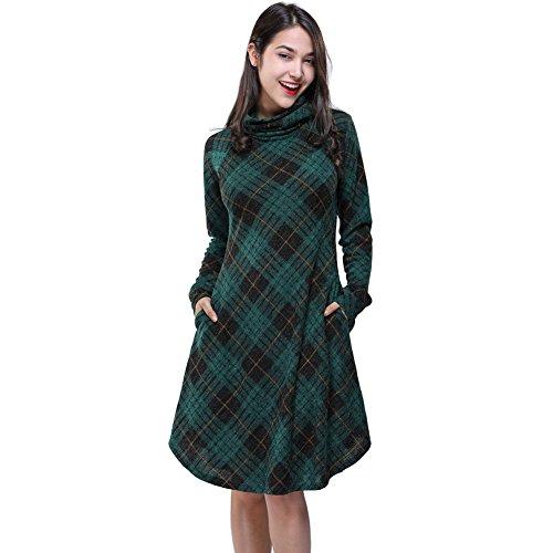 Top Fancyube Women's Leisure Long Sleeve High Collar Printing Long Sweater Dress supplier
