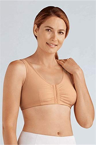 Amoena Women's Frances Front-Closure Leisure Bra,Nude,Large C/D (40/42)