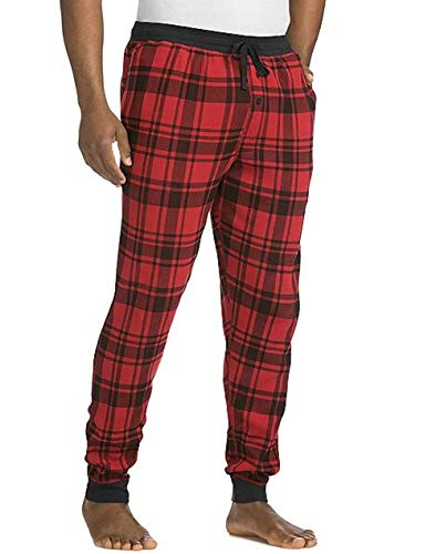 Hanes Men's Waffle Knit Jogger Pant, Red, 2X Large