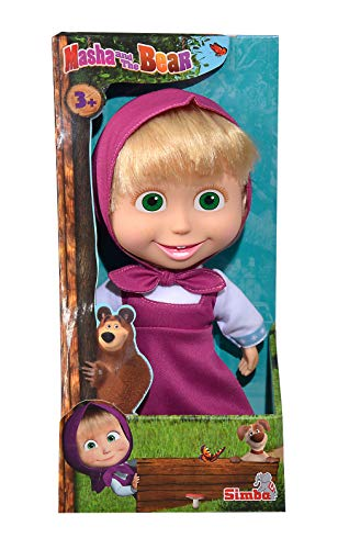 "Simba Masha and the Bear Masha Doll 9"" Pink Dress from Masha and the Bear"