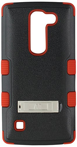MyBat Cell Phone Case for LG Logos/H443 Escape 2 - Retail Packaging - Red/Black - Giant Escape Hybrid