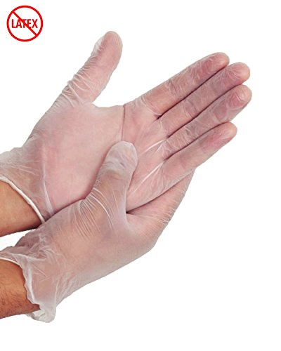 OMAR Multi-Purpose Clear Vinyl Gloves: Powder-Free, Latex-Free - LARGE - (100 ct.)