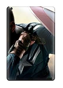 Ipad Mini/mini 2 Case Cover - Slim Fit Tpu Protector Shock Absorbent Case (chris Evans Captain America Winter Soldier)