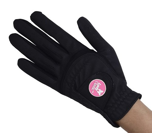 Lady Classic Women s Soft Flex Gloves with Magnetic Ball Marker, Left Hand, Black, Medium