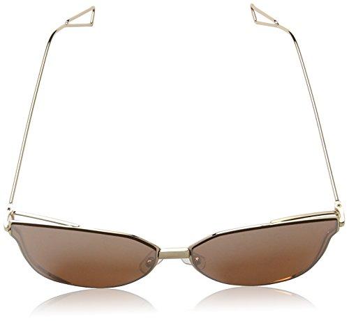 South Sunglasses de Flat Cat Mujer para Eye Gold Lens 55 Dorado Rose Gafas Sol Beach 0rpUw0