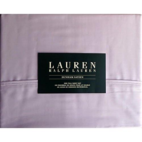 Discount Lauren Ralph Lauren Cotton 4 Piece Full Size Sheet Set Dunham Sateen Purple -- Lilac for cheap