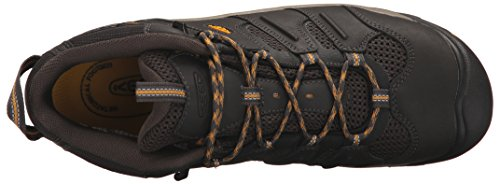 KEEN Utility Men's Lansing Mid Waterproof Industrial and Construction Shoe, Raven/Tawny Olive, 10.5 2E US by KEEN Utility (Image #8)