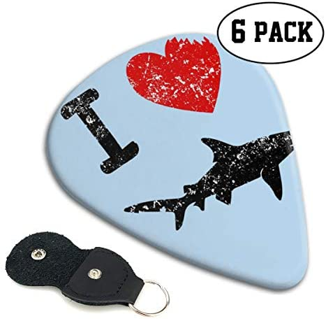 Xzyauza I Love Sharks 6 Pack Celluloid Guitar Picks Mandolinand Bass 0.46mm 0.71mm 0.96mm Optional / Xzyauza I Love Sharks 6 Pack Celluloid Guitar Picks Mandolinand Bass 0.46mm 0.71mm 0.96mm Optional