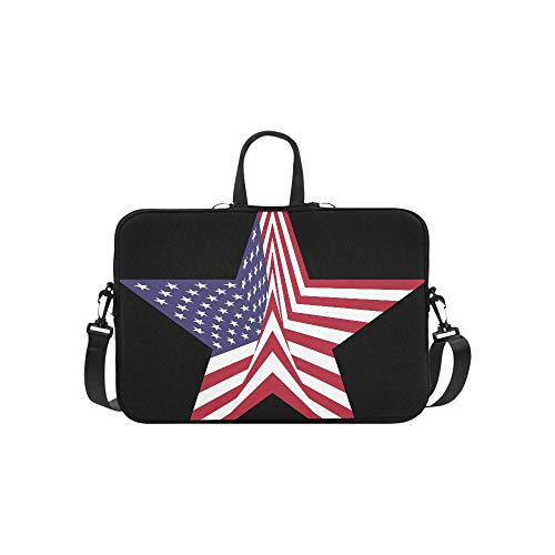 Free Clipart of A Star with an American Flag P Pattern Briefcase Laptop Bag Messenger Shoulder Work Bag Crossbody Handbag for Business Travelling ()
