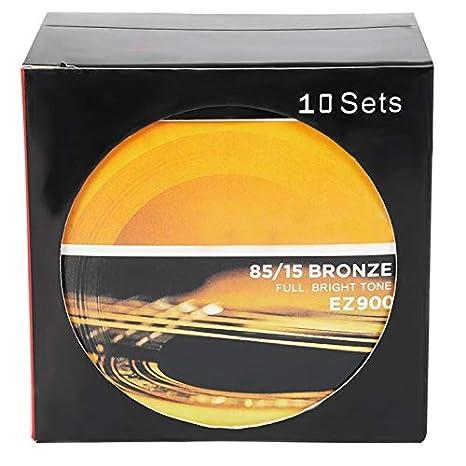 10 cuerdas para guitarra acústica de bronce americano: Amazon.es ...