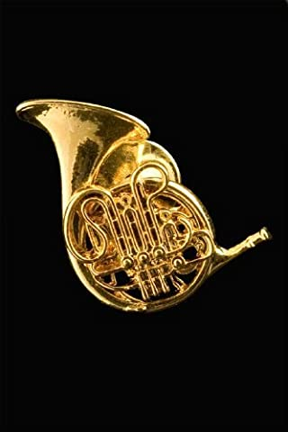 French Horn Pin - 24k Gold Plated (Marshall 1959 Super Lead)