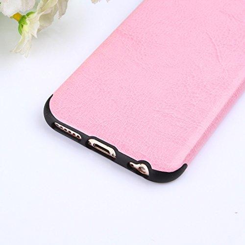 Pour iPhone 6 Plus / 6s Plus Crazy Horse Texture TPU + Housse de protection PU JING ( Size : Ip6p7771f )