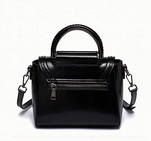 Da Capacità color Black Grande Di Black Tracolla Regolabile Casual Con Donna Borsa Azqw5Xx