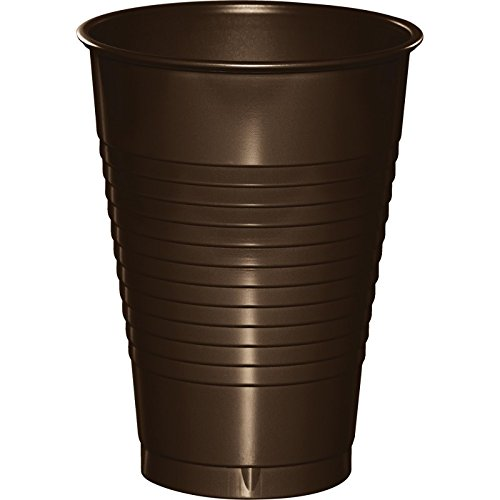 Chocolate Brown Plastic Cups 12oz Solid 240ct