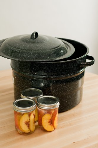 Granite Ware Covered Preserving Canner with Rack, 12-Quart by Columbian Home (Image #1)