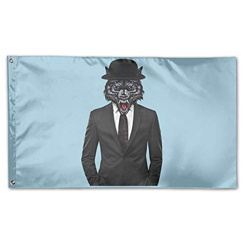 YUANSHAN Home Garden Flag Suit Wolf Man Polyester Flag Indoor/Outdoor Wall Banners Decorative Flag Garden Flag 3' X 5' -