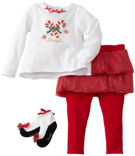Three Piece Candy Cane Outfit for Babies