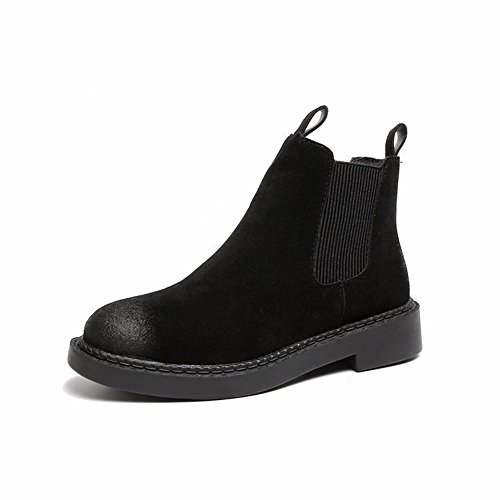 Wiping Martin Boots Mujeres Pantimedias de Manga Corta Casual Womens Boots de Mujer , negro , EUR35