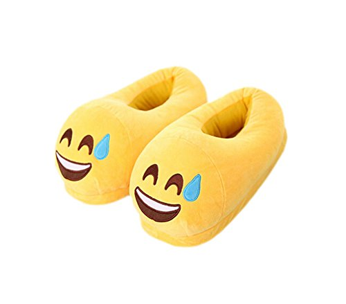 DELEY Unisex Cartoon Emoji Slippers Winter Warm Creative Expression Plush Home Shoes Sweat J9cVSQi8f7